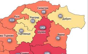 Шуменска област се върна в червената зона на Covid-19