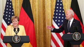 """Меркел и Байдън обявиха """"единство"""" срещу руската агресия, но не и за """"Северен поток 2"""""""
