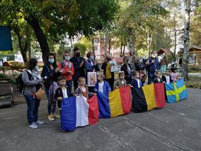 Малчугани пяха песен на три езика за учители от Белгия, Франция, Румъния и Швеция