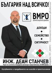 Инж. Деан Станчев: БЪЛГАРЩИНАТА в Шумен е заплашена и само ВМРО може да я защити