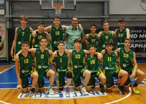 """Момчетата на """"Шумен"""" до 14 г. са пети на държавното първенство по баскетбол"""