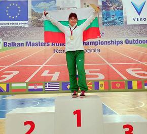 Лекоатлетката Каролина Николова спечели 4 медала от Балканския шампионат за ветерани в Албания
