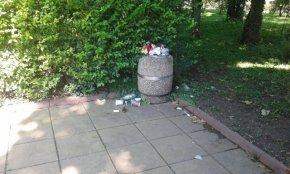 Мръсотия в градската градина