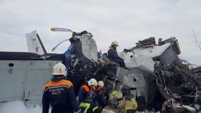 Самолет с парашутисти се разби в Русия