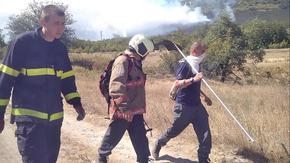 "Над 100 души гасят голям пожар над ""Дивдядово"","