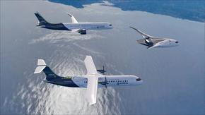 """""""Еърбъс"""" показа три идеи за самолети, задвижвани с водород"""