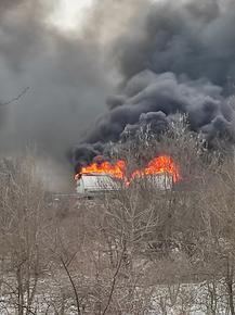 """Ремонтират магистрала """"Тракия"""", след като там се запалиха камиони"""