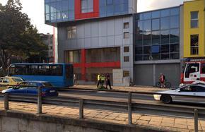 Автобус на градския транспорт горя в Шумен