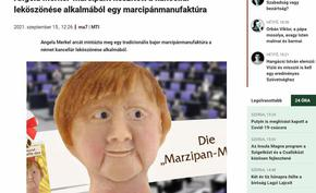 Сладкар направи Меркел на марципан