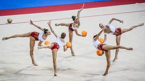 Ансамбълът по художествена гимнастика спечели злато и сребро на европейското