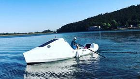Стефан Иванов и 16-годишният му син започнаха опита си да прекосят Атлантика с лодка