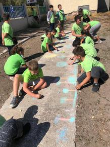 """Децата от СУ """"П. Волов"""" в Каспичан се включиха със спортен празник в дните на Европейската седмица на мобилността"""