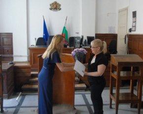 Новият председател на Районен съд – Велики Преслав Диана Петрова встъпи в длъжност