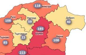 В Шуменско заразените в Covid-19 достигнаха 185 на 100 000