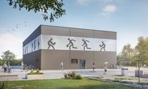 """Ето как ще изглежда новият физкултурен салон на III ОУ """"Димитър Благоев"""""""