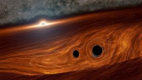 Сливането на черни дупки може да блести като супернова, смятат учени