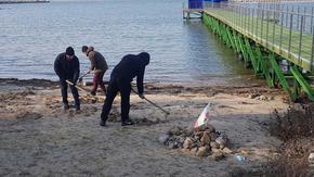 Премахнаха тревата от плажа на Росенец