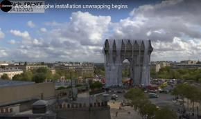 """""""Събличането"""" на Триумфалната арка в Париж"""