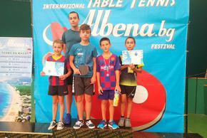 Шуменските таланти по тенис на маса с отлично представяне на международния фестивал в Албена
