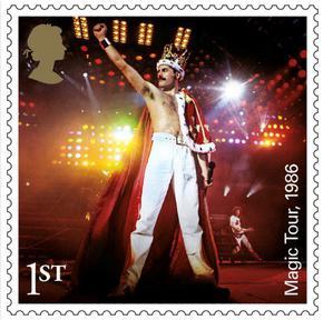 Кралска марка за 50-годишнината на Queen