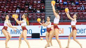 Ансамбълът по художествена гимнастика спечели три медала в Минск