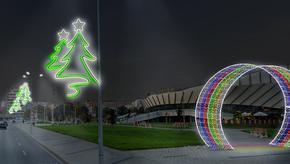 В Шумен слагат нови коледни светлини