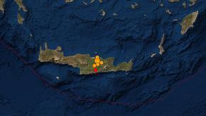 Разрушения и свлачища на остров Крит след силен трус