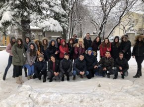 Снежен поглед от Шумен на България