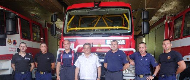 Отличиха пожарникари по случай празника на МВР