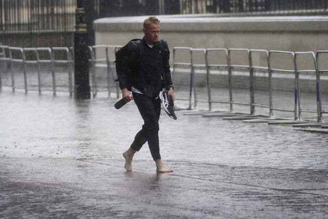 В центъра на Лондон вчера. Снимка АП / БТА