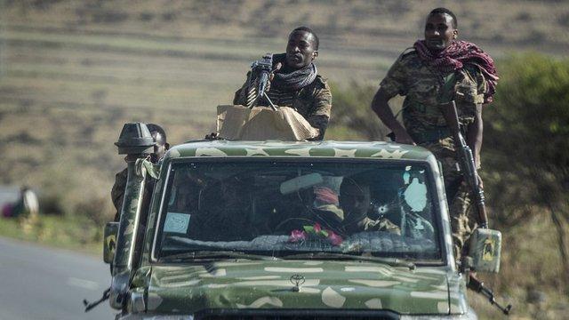 Етиопски войници в района на Тиграй © Associated Press