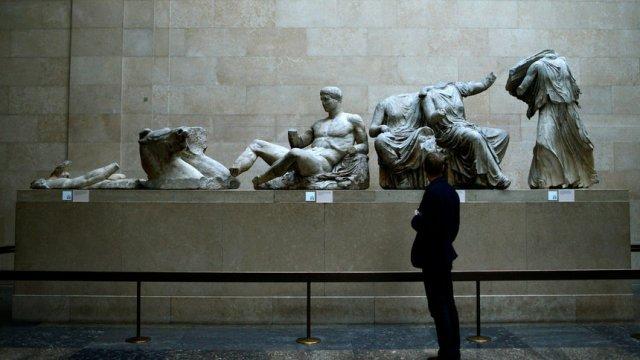 """Колекцията от Партенона, известни като """"мраморите на Елгин"""", в Британския музей в Лондон"""