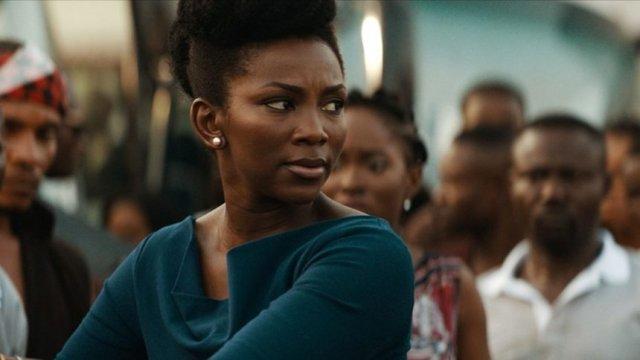 Кадър от дисквалифицирания филм от Нигерия Lionheart
