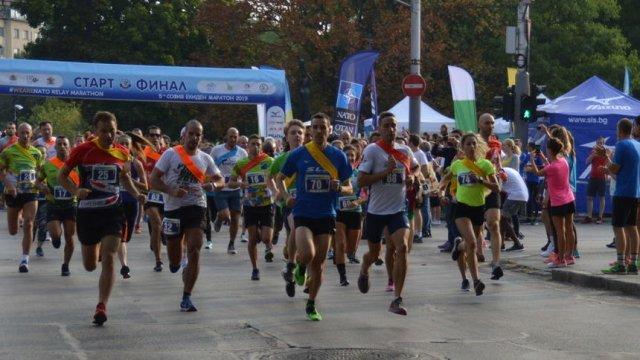 Щафетният маратон в София премина с рекорден брой участници.