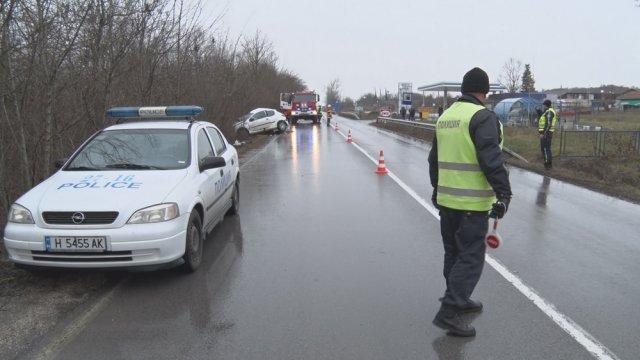 До кръстовището край Ивански често стават тежки катастрофи, Снимка: Архив