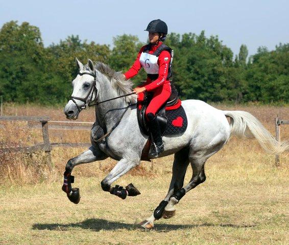 Летисия Димитрова с КЕШ - шампиони по всестранна езда. Снимка фейсбук.