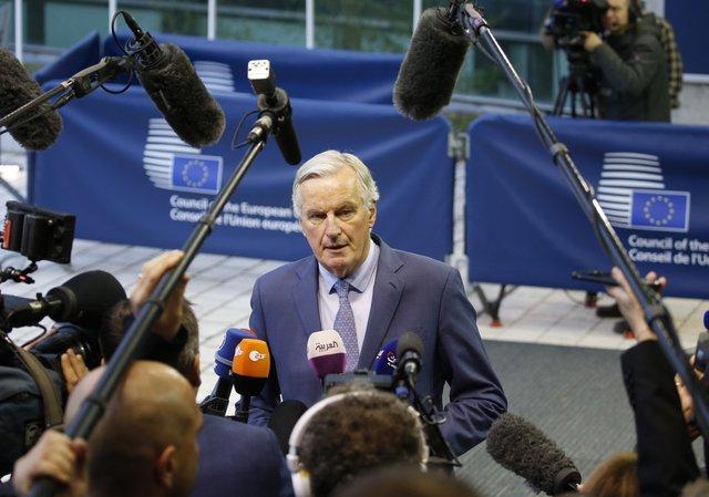 На снимката: преговарящият от страна на ЕС Мишел Барние