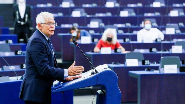 Жозеп Борел говори пред Европейския парламент в Страсбург за ситуацията в Афганистан