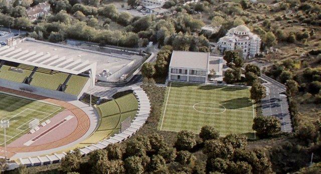 """Така ще изглежда тренировъчното игрище и новата зала, според идейния проект на студио """"Атек-ВД"""""""