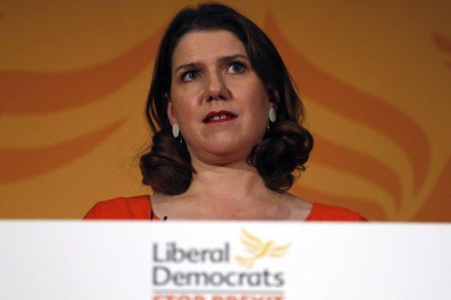 Джо Суинсън - лидерката на Либералдемократическата партия. Снимка АП/БТА