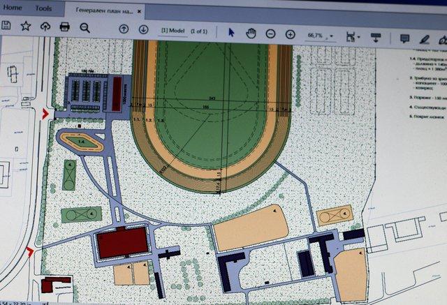 План на реконструкцията ма Хиподрума