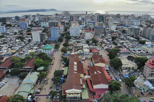 Конакри, столицата на Гвинея.